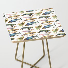 Whales and a Little Squid Side Table