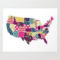 U.S of A Art Print