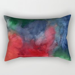 Watercolor turbulence Rectangular Pillow