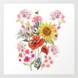 Tuscan Florals Art Print