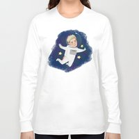 niall Long Sleeve T-shirts featuring Space Niall by Ashley R. Guillory