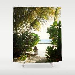 Maldives -  Beach Path 2 Shower Curtain