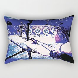 Young Archer and Targets Rectangular Pillow