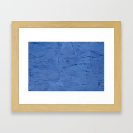 Light Blue Stucco Framed Art Print