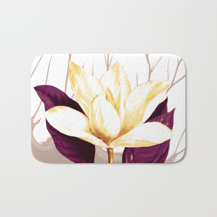 single flower Bath Mat