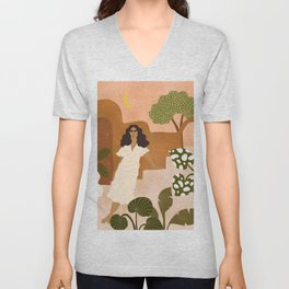Where I Would Rather Be Right Now Unisex V-Neck