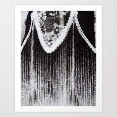 Lamp Negative Art Print