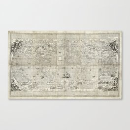 Map of the World (1597) Canvas Print