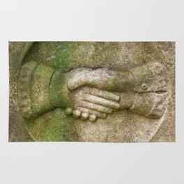 Tombstone Handshake Rug