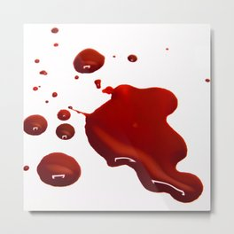 Cinematic Blood Art Metal Print