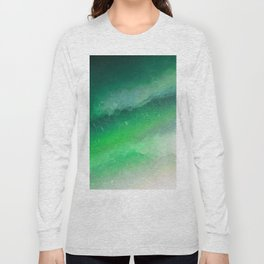 Shades of Emerald green Jewel Abstract Long Sleeve T-shirt