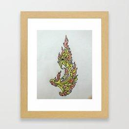 Phoe snake Framed Art Print