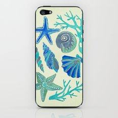 Blue Seashells iPhone & iPod Skin