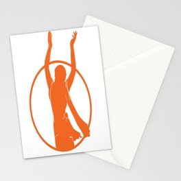 Golden Avatar Orange Stationery Cards