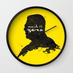 Mark it Zero –Walter Sobchak Silhouette Quote Wall Clock