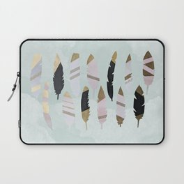 Gold Tipped Feathers Laptop Sleeve