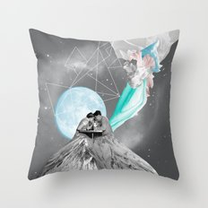 FUTURE IS BLUE Throw Pillow