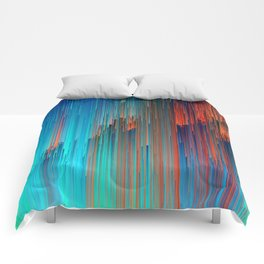 All About Us - Abstract Glitch Pixel Art Comforters
