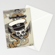 Skull with anchor Stationery Cards