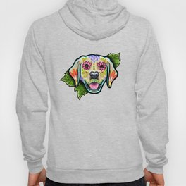 Golden Retriever - Day of the Dead Sugar Skull Dog Hoody
