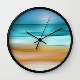 Abstract Seascape 2 Wall Clock