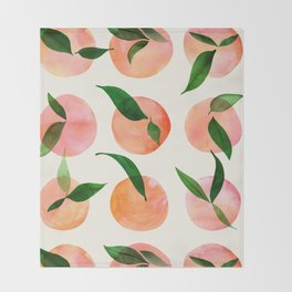 Abstract Orchard / Watercolor Fruit Throw Blanket