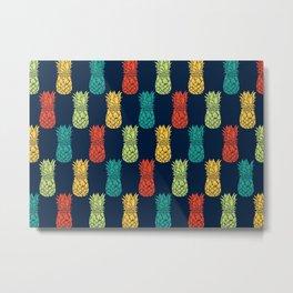 Pineapples Galore Metal Print