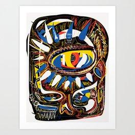 The Third Eye Primitive African Art Graffiti Kunstdrucke