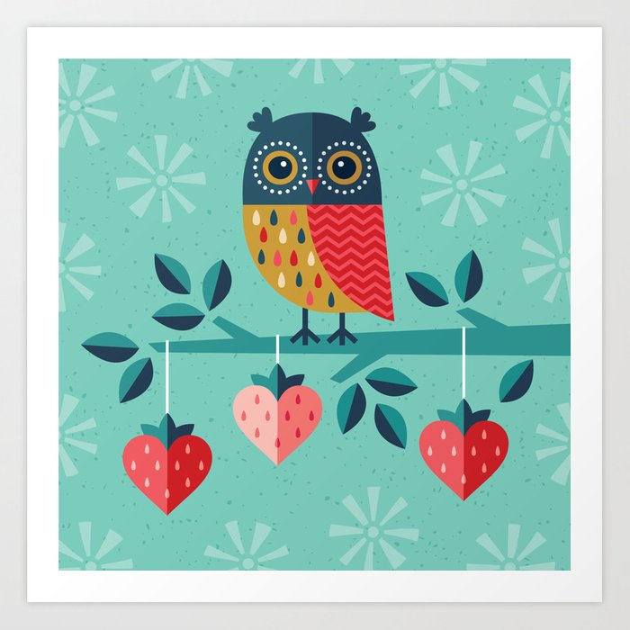 OWL ALWAYS LOVE YOU Art Print by daisybeatrice | Society6