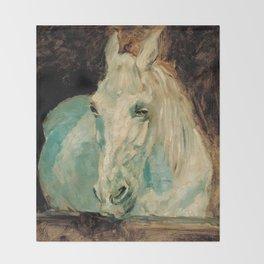 The White Horse Gazelle - Henri Toulouse-Lautrec Throw Blanket