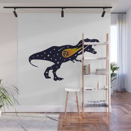 Dinosaur and meteorite strike #society6 #decor #buyart #artprint Wall Mural