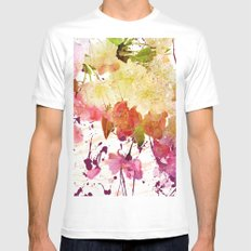 sweet spring floral Mens Fitted Tee White MEDIUM