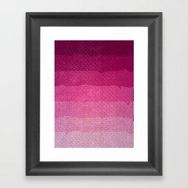 Strawberry grunge Framed Art Print