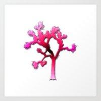 Joshua Tree Strawberry by CREYES Art Print
