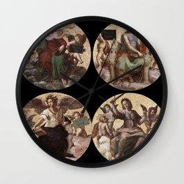 """Raffaello Sanzio da Urbino """"Ceiling of the Stanza della Segnatura"""", 1508-1511 Wall Clock"""
