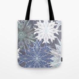 Layered Snowflakes Tote Bag
