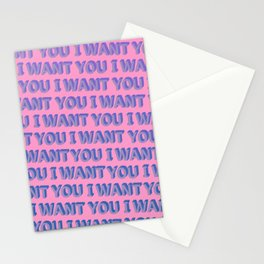 I Want You - Typography Stationery Cards