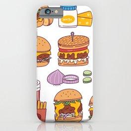 The wonder of Hamburgers iPhone Case