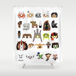 ABC3PO Episode II Shower Curtain