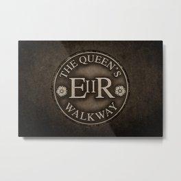 The Queen's Walkway Walking Path Windsor England Metal Print