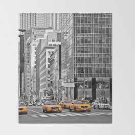 NYC - Yellow Cabs - Police Car Throw Blanket