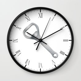 Metal Bottle Opener Wall Clock