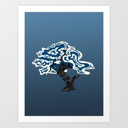 Psychedelic Trippy Tree Art Print