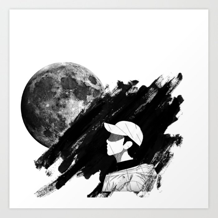 Bts Rm Mono Art Print By Breastudio