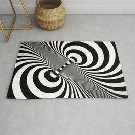 Dualism (black & white) Rug