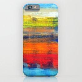 Horizon Blue Orange Red Abstract Art iPhone Case