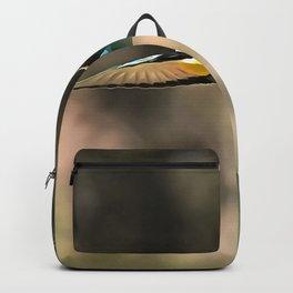 Bee Eater In Flight Realistic Artwork Backpack