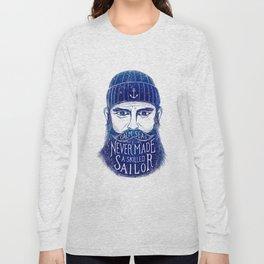 CALM SEAS NEVER MADE A SKILLED (Blue) Long Sleeve T-shirt