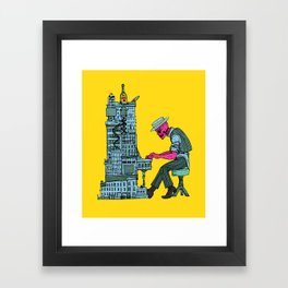 The Undead Pianist Framed Art Print