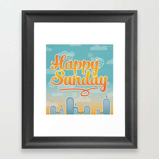 Happy Sunday Framed Art Print